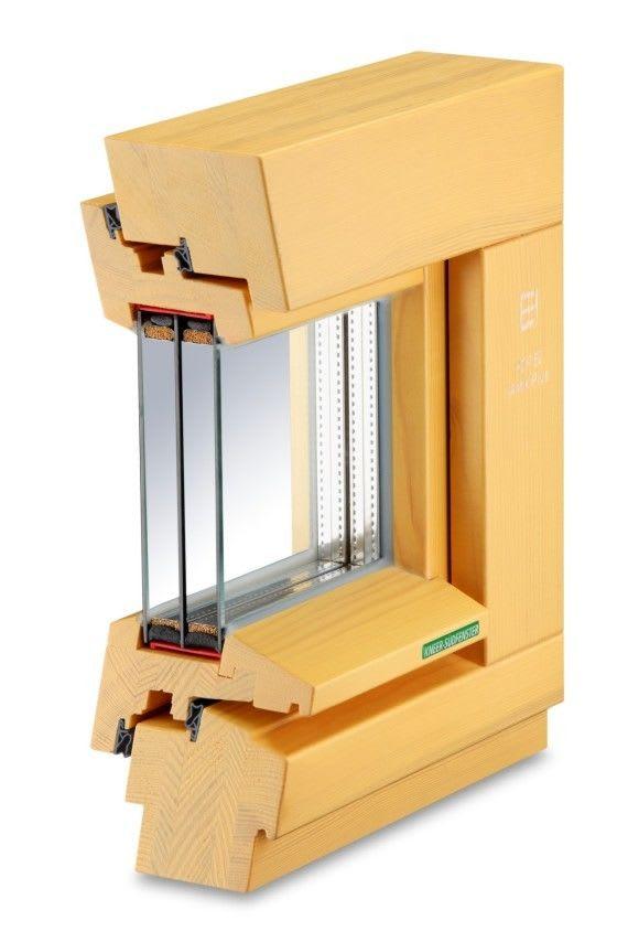 Holz Fenster mit Rahmen helles braun