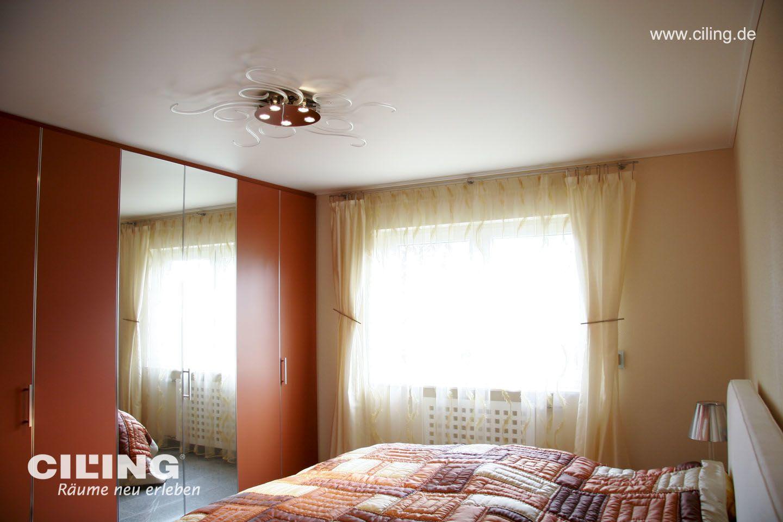 Galerie Schlafzimmer CILING Spanndecke Orange Ton 1
