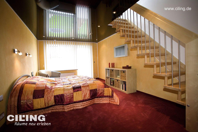 Galerie Schlafzimmer CILING Spanndecke dunkel und Orange Ton 2