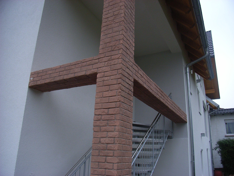 Steinimitation Haus mit Brick Steinen