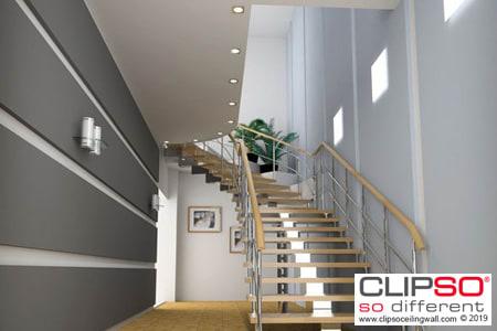 CLIPSO Unternehmen Treppenaufgang