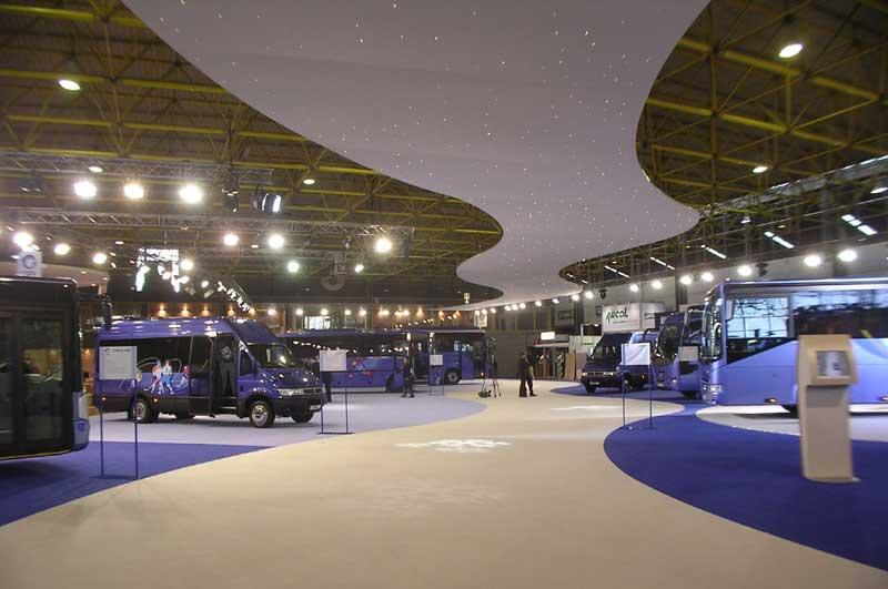 Sternenhimmel Decke auf Messeausstellung