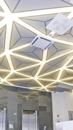 Bedruckte Lichtdecke mit LED Stripes