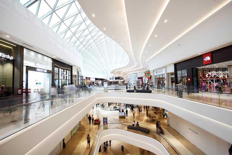 CLIPSO Akustikdecke Einkaufszentrum