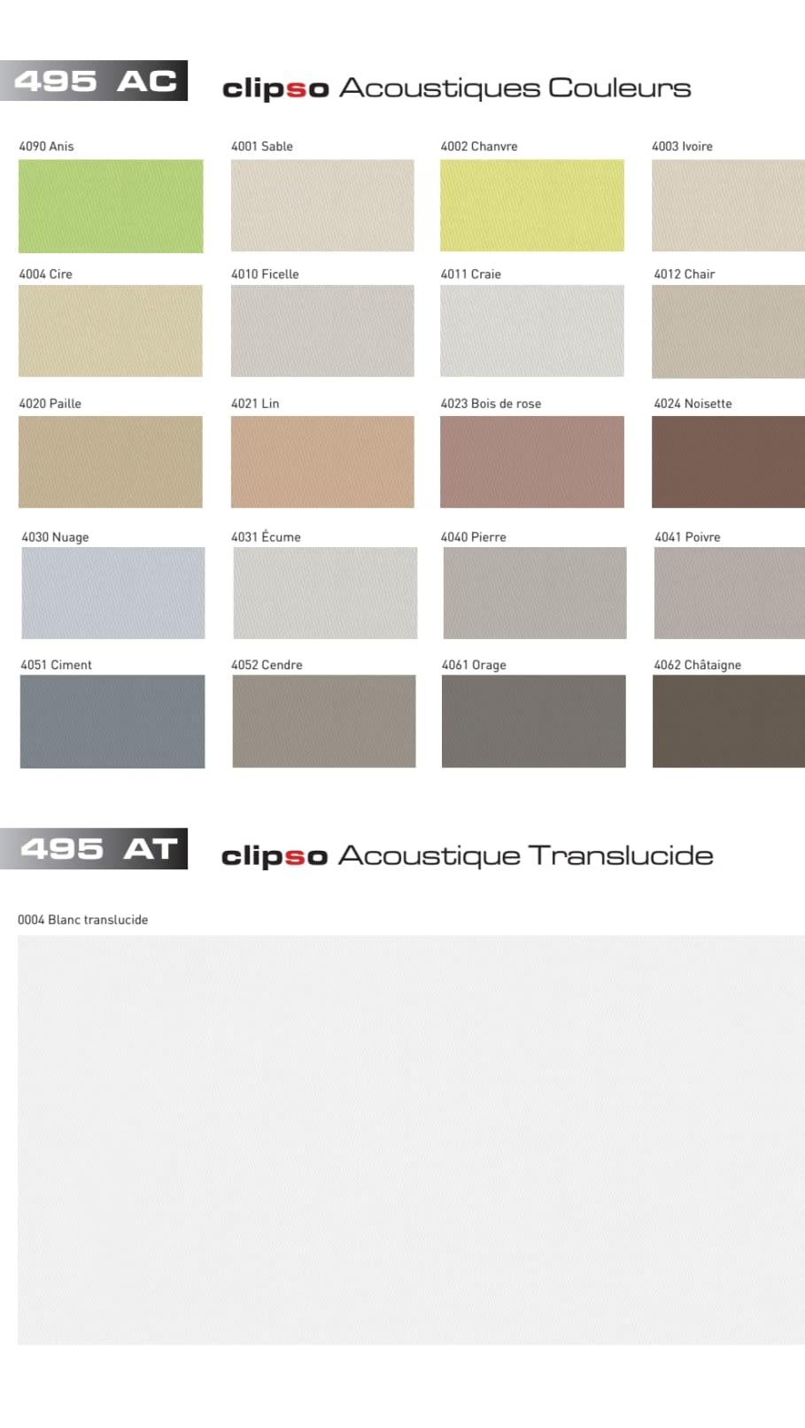 Die Standardfarben 495 AC