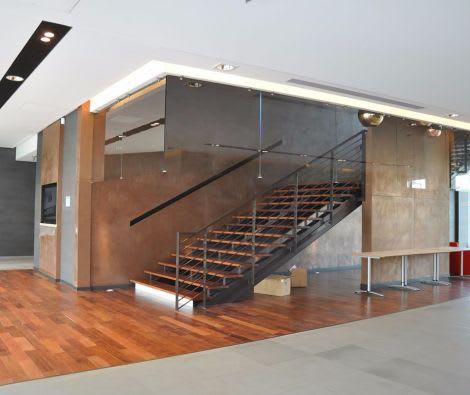 Akustikdecke Treppenaufgang