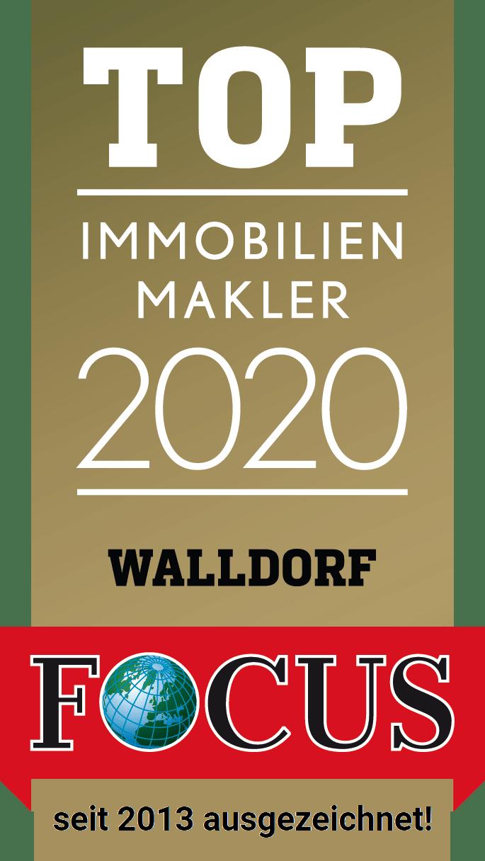 Zertifikat Fokus Top Immobilienmakler Walldorf 2020 Bruder Immobilien