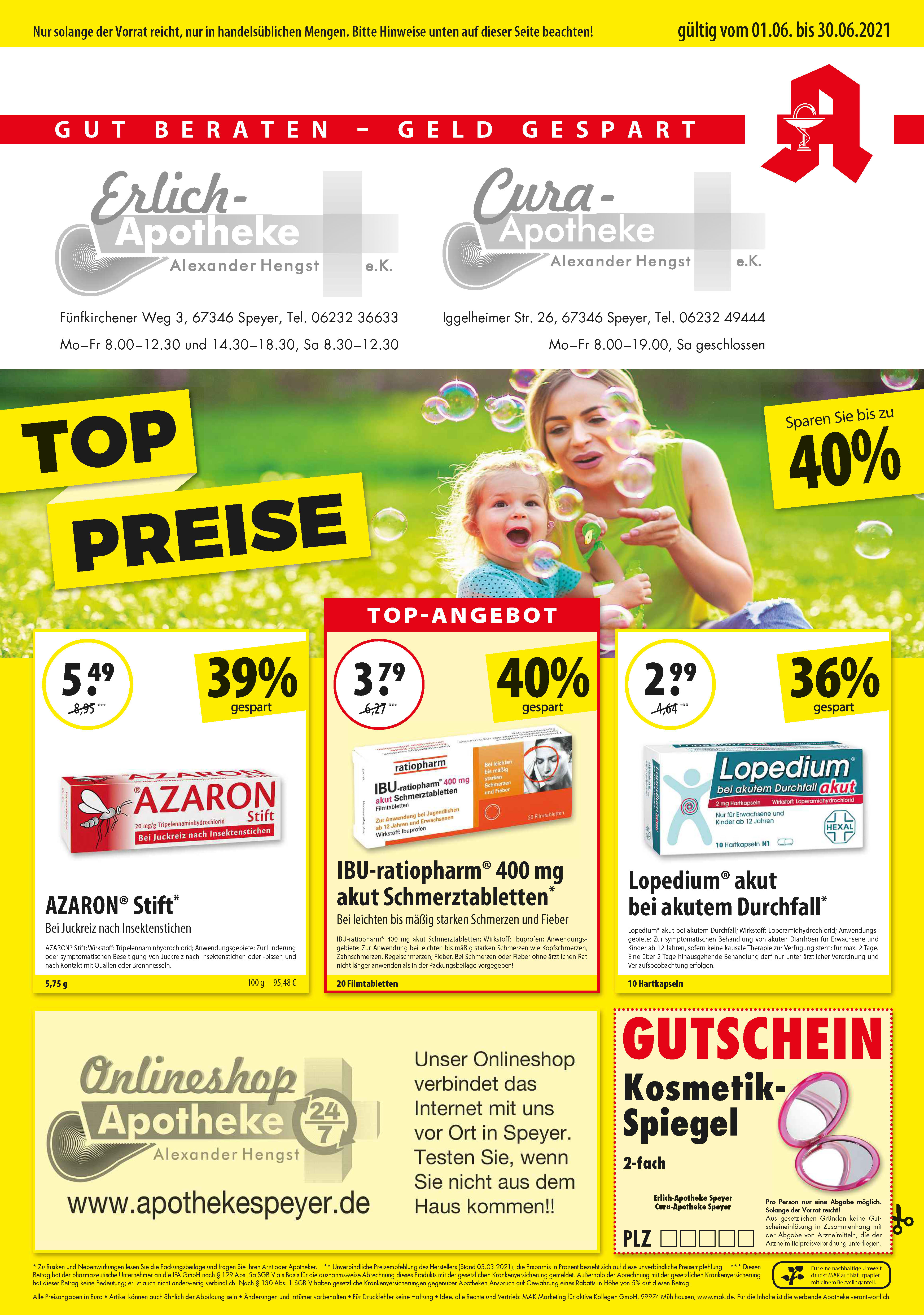 Apotheke Speyer Apotheke Angebote Rabatte Juni Seite 1