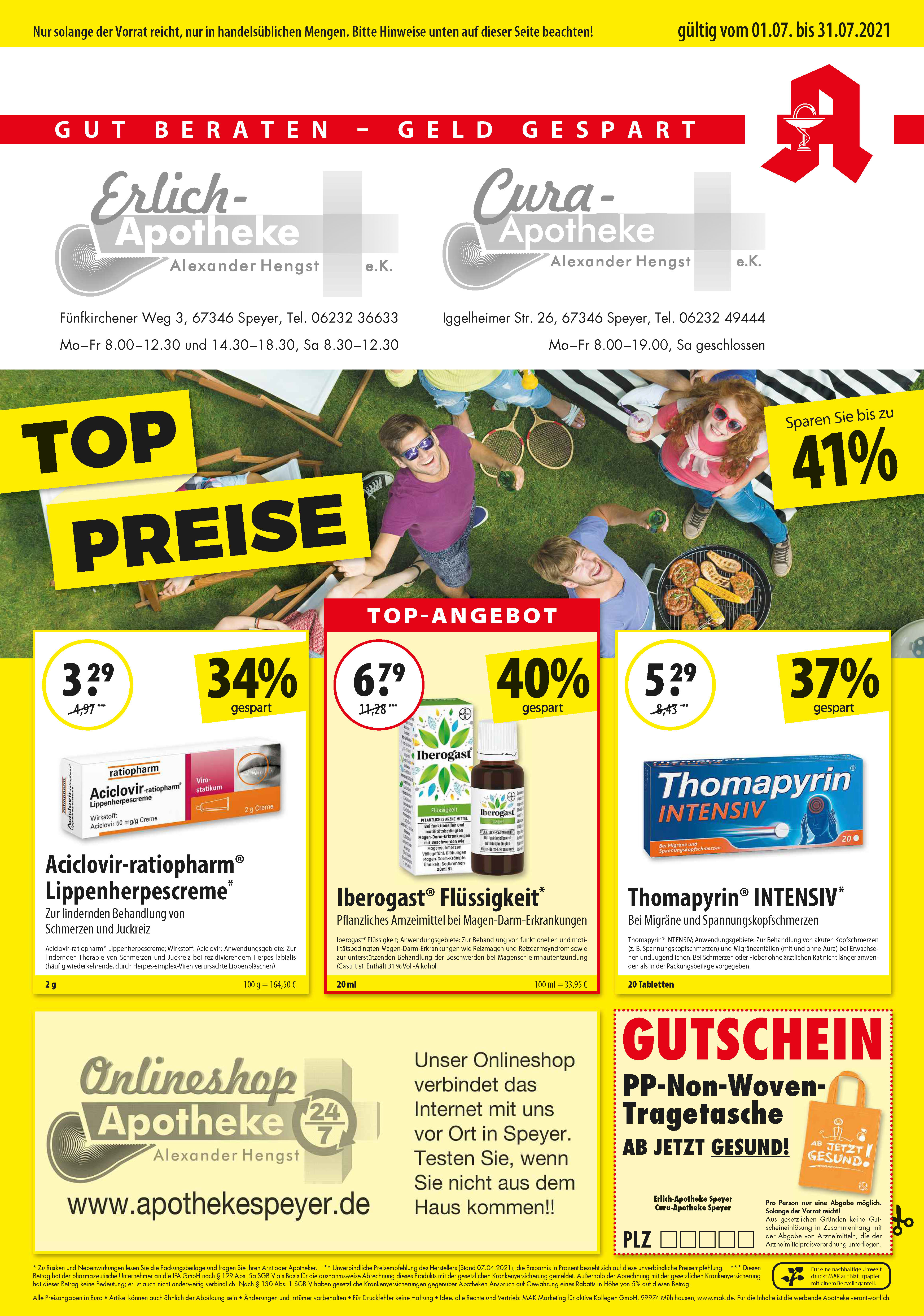 Apotheke Speyer Apotheke Angebote Rabatte Juli Seite 1
