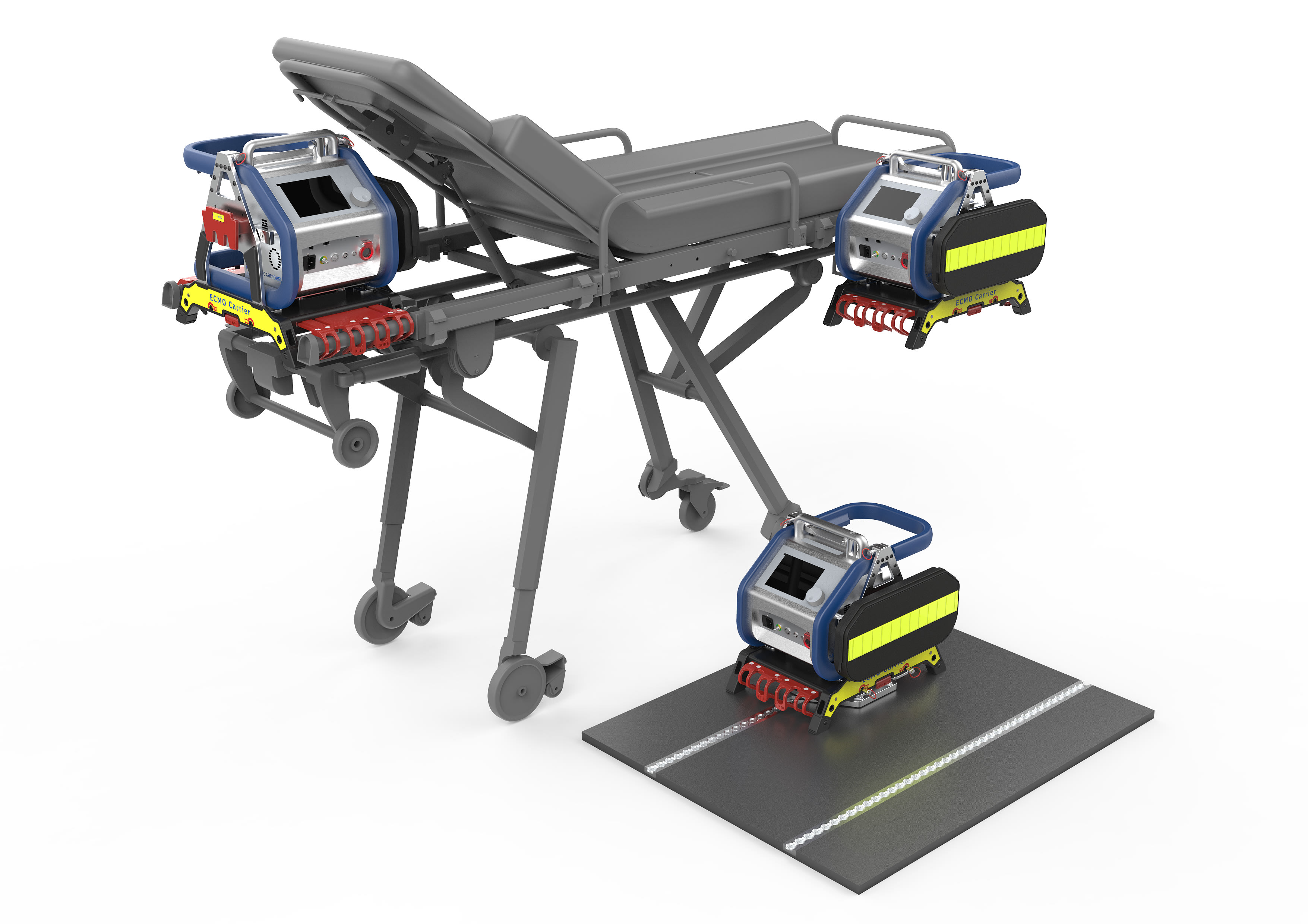 ECMO Carrier für Cardiohelp