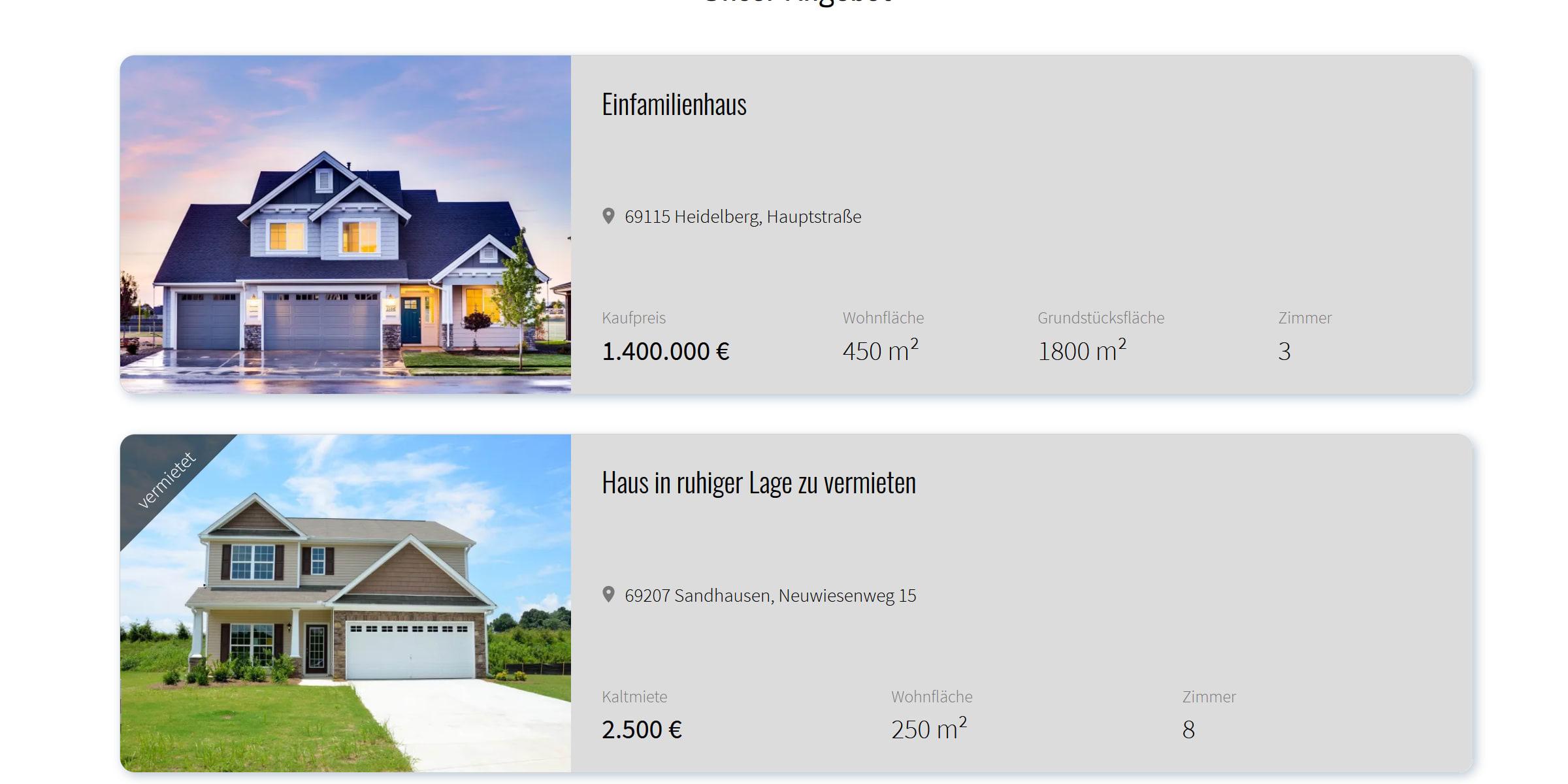 Immobilienmakler Screenshot