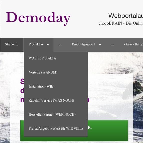 Menüleiste Website Demoday neu