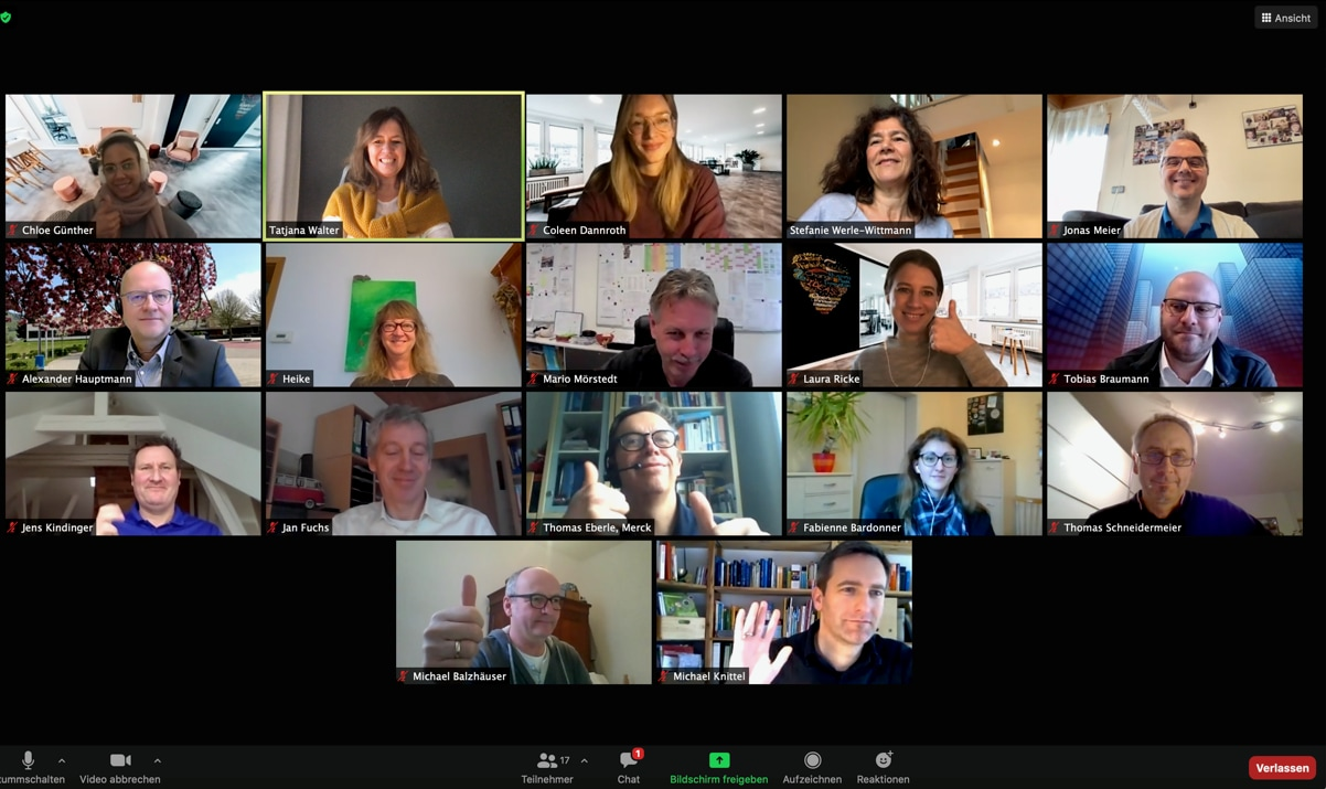 Design thinking virtueller Workshop zugeschnitten