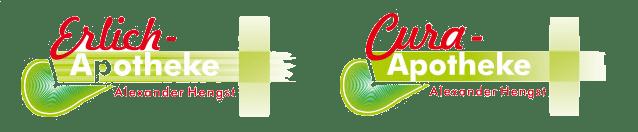 Erlich und Cura Apotheke Speyer Logo rot grün