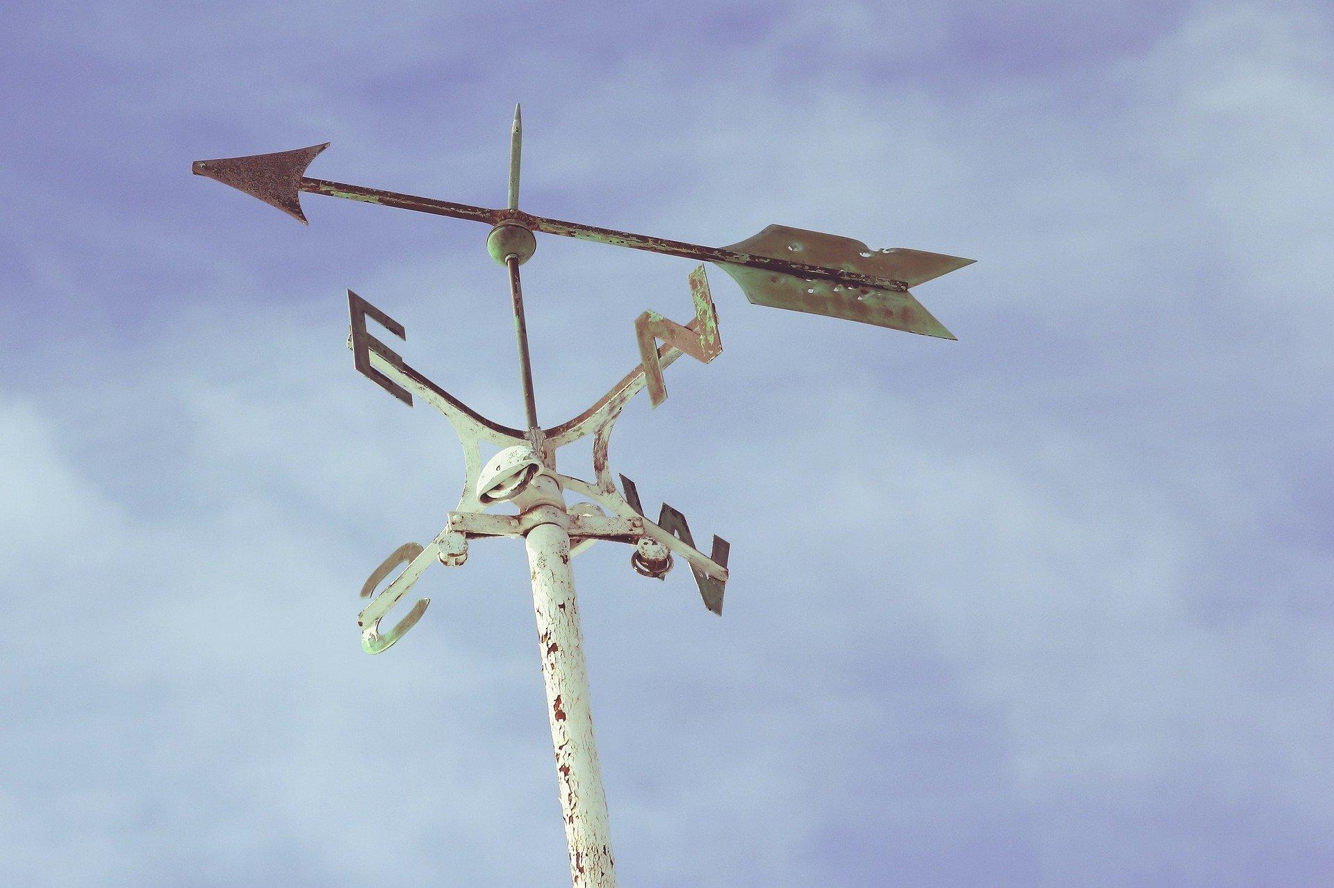 Windmesser aus Metall