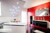 Badezimmer in matt weiß mit Swarovski Einbaustrahler