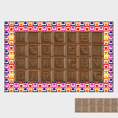 Love You So Much Darling – Milk Chocolate | ChocoLetter.ca | Say ...