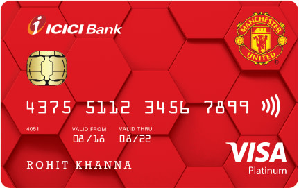 Manchester United ICICI Bank™ Platinum Credit Card