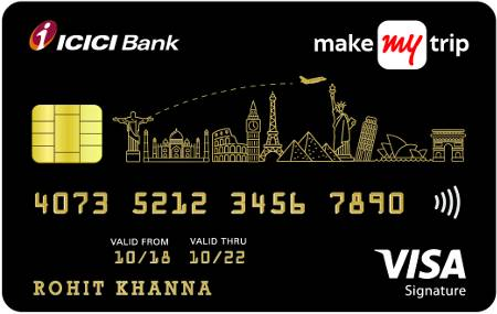 MakeMyTrip ICICI Bank™ Signature Credit Card