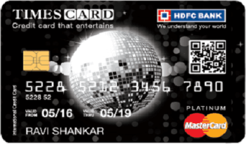 HDFC Bank Platinum Times Card