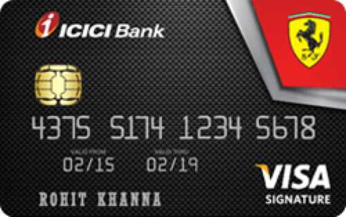 ICICI Bank™ Ferrari™ Signature Credit Card