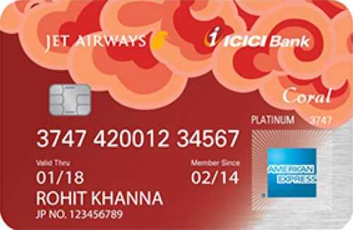 Jet Airways ICICI Bank™ Coral American Express™ Credit Card