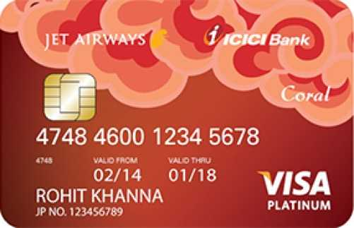 Jet Airways ICICI Bank™ Coral Visa Credit Card