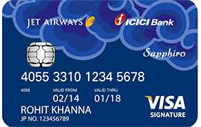 Jet Airways ICICI Bank™ Sapphiro Visa Credit Card