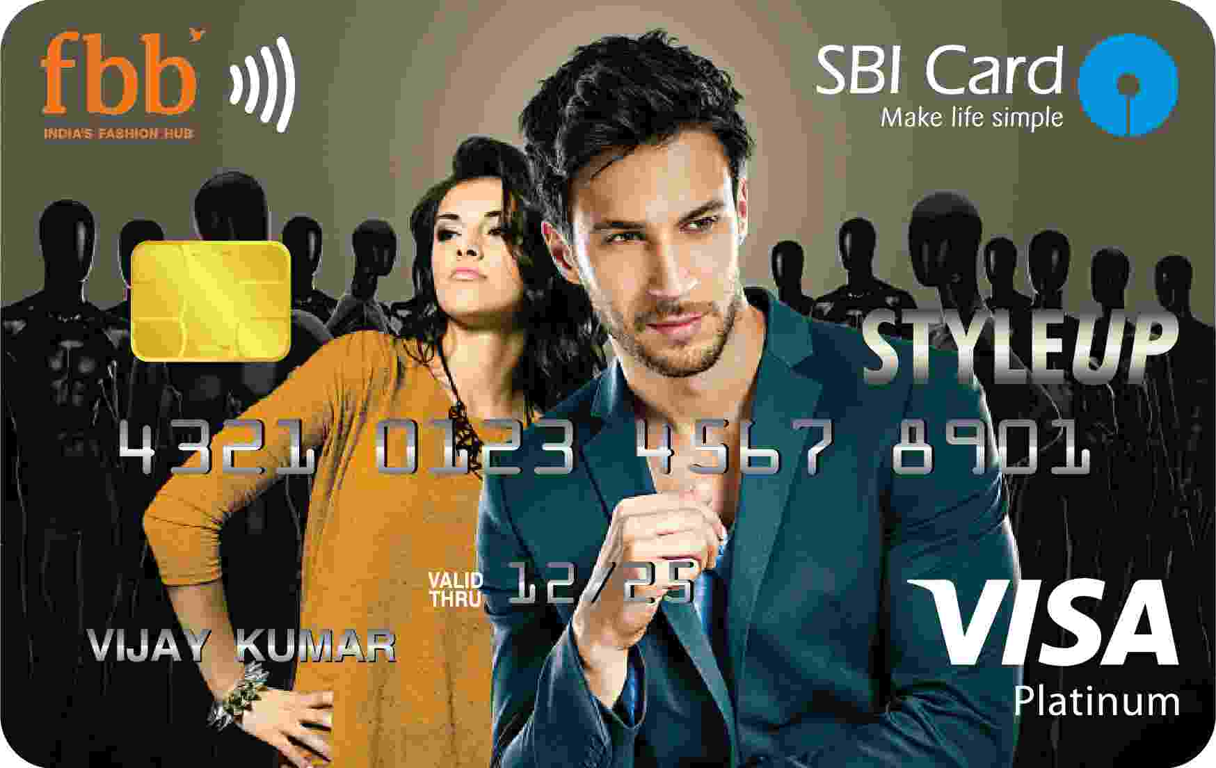 FBB SBI STYLEUP Contactless Card