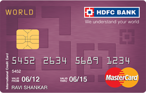 HDFC Bank World MasterCard