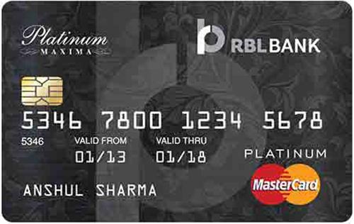 RBL™ Platinum Maxima Credit Card
