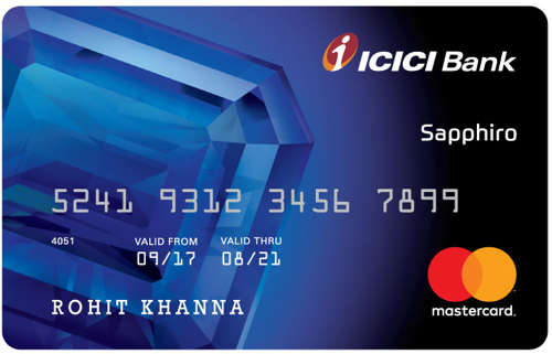 Image result for JET AIRWAYS ICICI BANK SAPPHIRO CREDIT CARD