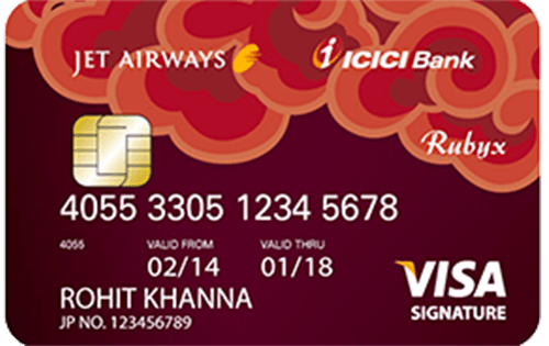 Jet Airways ICICI Bank™ Rubyx Visa Credit Card