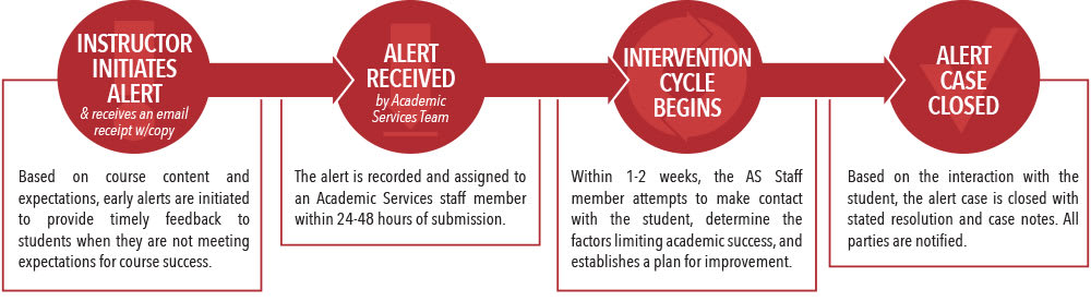 Visual information graphic of the Academic Alert Flow Chart