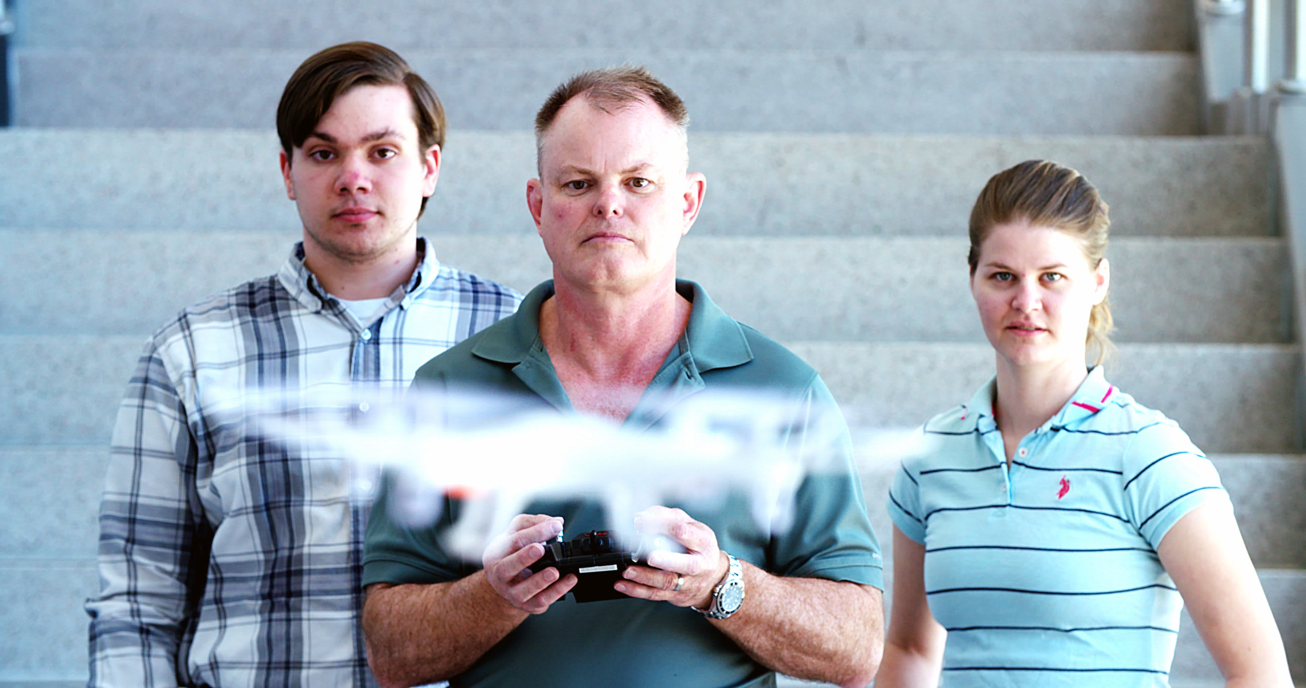 CBU Faculty and Students flying drone