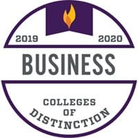 Seal for the Colleges of Distinction for the School of Business
