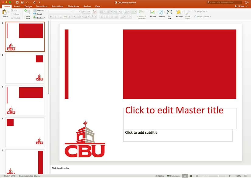 CBU Powerpoint Template 1