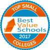 Seal indicating CBU is a Best Value Schools Top Small Colleges