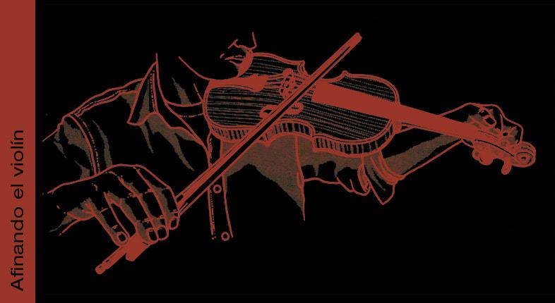 Comenzando a afinar el violín