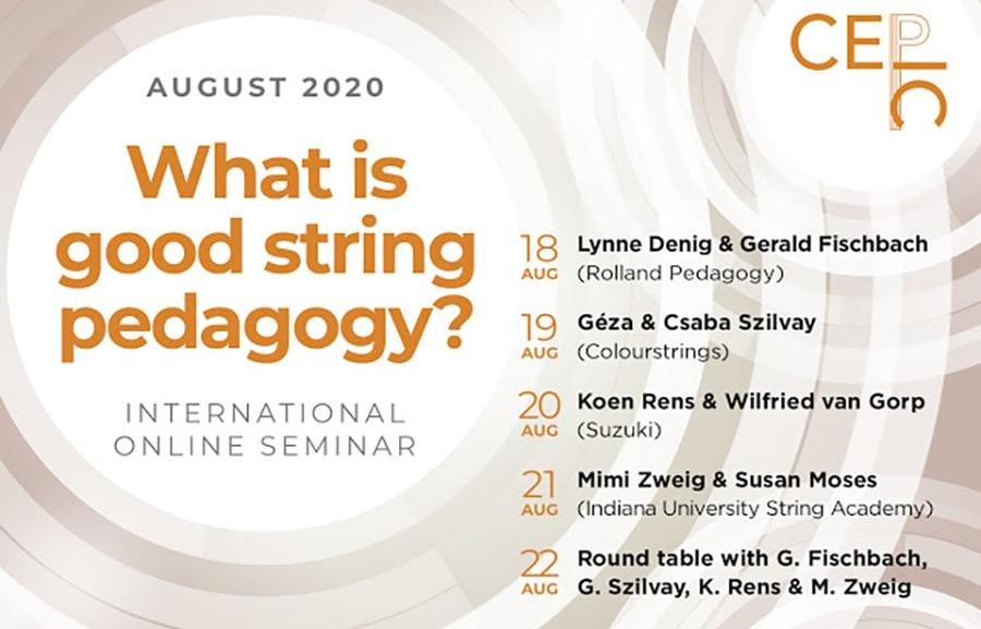 """""""What is good string pedagogy?"""" – Seminario Internacional Online en el CEPIC"""