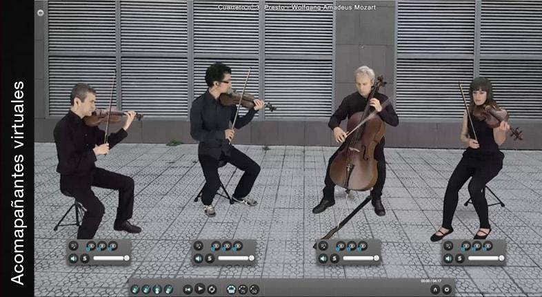Acompañantes virtuales para practicar.
