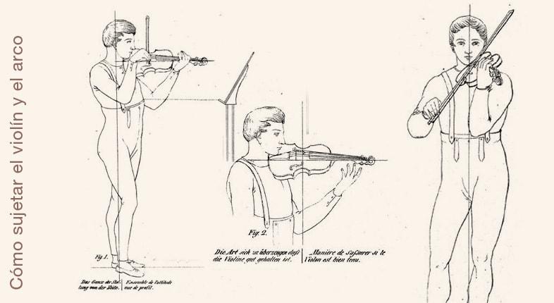Aprender a sujetar el violín y el arco