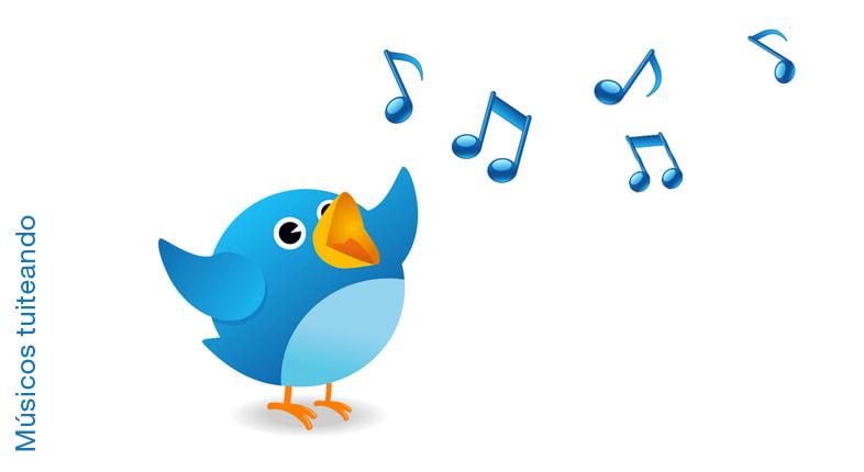 Músicos tuiteando