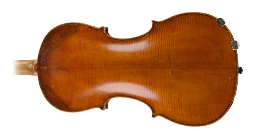 Forma del dorso del violín