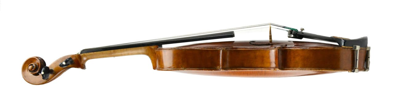 Curvatura tapa superior violín