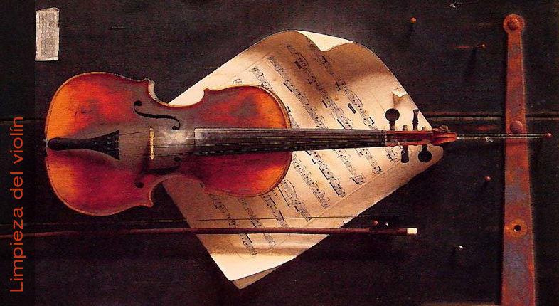 Limpieza del violín