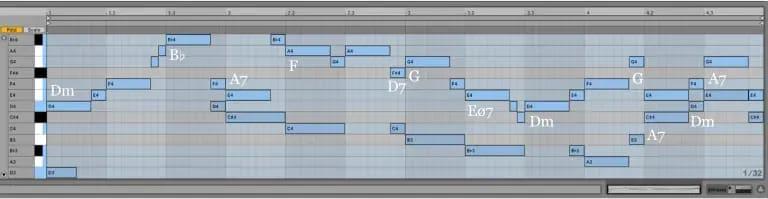 Variación 5 chacona Bach Ableton Live
