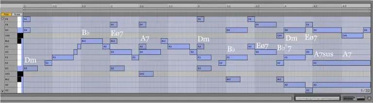 Variación 4 chacona Bach Ableton Live