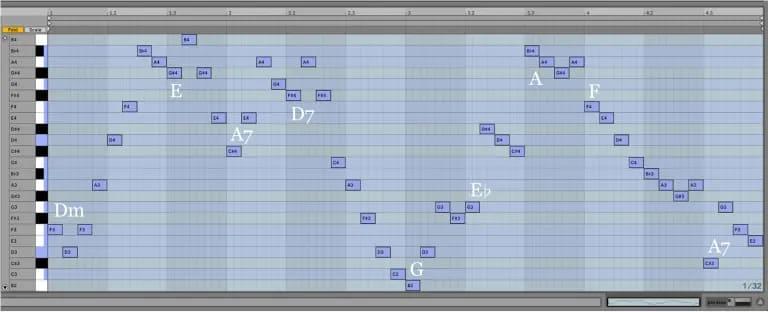 Variación 10 chacona Bach Ableton Live