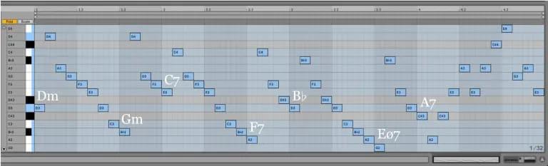 Variación 13 chacona Bach Ableton Live